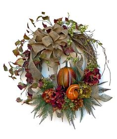 Harvest Fall Wreath for Door, Thanksgiving Wreath, Autumn Wreath, Wreath on Etsy, by Adorabella Wreaths!