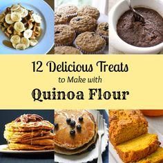 12 Delicious Treats to Make with Quinoa Flour - All Gluten-Free Quinoa Flour Recipes, Almond Flour Recipes, Healthy Sweets, Healthy Baking, Healthy Foods, Stay Healthy, Gluten Free Sweets, Gluten Free Baking, Superfood Recipes