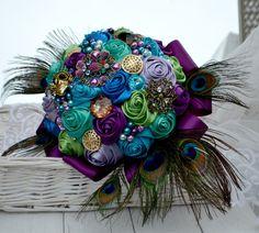 Brautsträuße Peacock Queen von wandadesign auf DaWanda.com