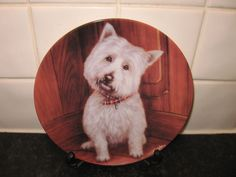 WEST HIGHLAND TERRIER DOG PLATE - LOOKING & LISTENING -DANBURY MINT in Collectables, Decorative Ornaments/Plates, Collector Plates | eBay