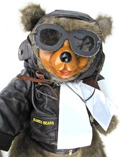Raikes Lindy Bear in Goggles and Jacket Ltd by worldvintage