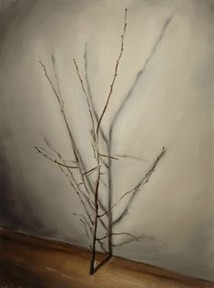 Michaël Borremans The Branch 2003 80 x 60 cm Oil on canvas Private Collection Courtesy Zeno X Gallery Antwerp ©Photographer Peter Cox