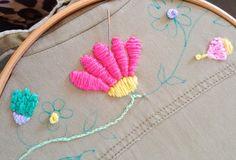 Image result for como hacer bordado mexicano