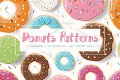 Donuts - patterns illustrations by Blue Lela Design on Pink, Brown Mint, Donuts, Illustrations, Graphic Design resources Graphic Patterns, Cool Patterns, Beautiful Patterns, Graphic Design, Vector Pattern, Pattern Design, Creative Sketches, Pencil Illustration, Business Card Logo