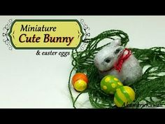 Miniature Easter Bunny & eggs - Polymer Clay Tutorial - YouTube