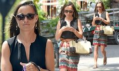 Pippa Middleton is stylish in print during a London stroll