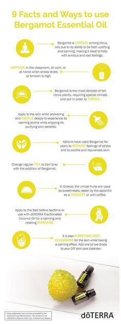 doTERRA Bergamot Essential Oil Uses with DIY, Diffuser and Food Recipes – – Essentiële oliën – skincare Doterra Essential Oils, Young Living Essential Oils, Essential Oil Diffuser, Essential Oil Blends, Doterra Blends, Diffuser Diy, Bergamot Essential Oil Uses, Bergamot Oil Benefits, Natural Remedies