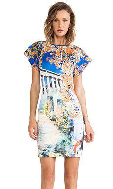 Clover Canyon vestido de neoprene garden of athena in Multi | REVOLVE