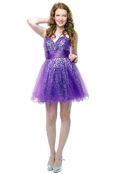 short prom dresses with straps | Purple short prom sparkly dresses 2013 -2014 for juniors prom party