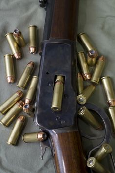 Winchester with a bunch of hollow-tip Weapons Guns, Guns And Ammo, Bushcraft, Lever Action Rifles, Fire Powers, Hunting Rifles, Cool Guns, Firearms, Shotguns
