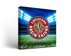 Louisiana Ragin' Cajuns Football Stadium Canvas Art Square
