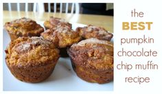 This is the best pumpkin chocolate chip muffin recipe -- light, moist, and flavorful with lots of pumpkin and chocolaty goodness. A family favorite!