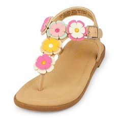 3fd20909174 Baby Girls Toddler Floral T-Strap Zahara Sandal - Multi Sandals - The  Children s Place