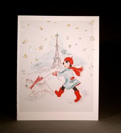 Holiday Greeting Cards It's Snowing in Paris by anitarivera, $15.00 - Je t'adore!