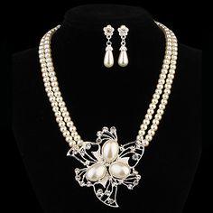 подарок для матери моды форме цветка сплава (ожерелья&серьги&) Наборы ювелирные изделия перлы – RUB p. 232,74