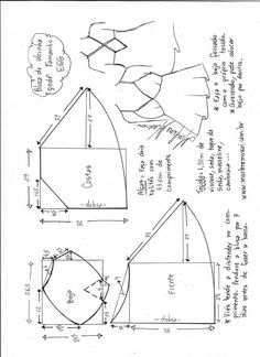 Blusa de alcinha godê com bojo triangular Lingerie Patterns, Dress Sewing Patterns, Sewing Patterns Free, Sewing Tutorials, Sewing Hacks, Clothing Patterns, Sewing Projects, Fabric Sewing, Skirt Patterns