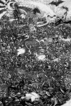 gothic punk - John Blanche Warhammer Battle!