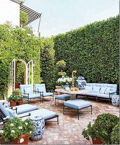 Outdoor living; patio via Cote de Texas