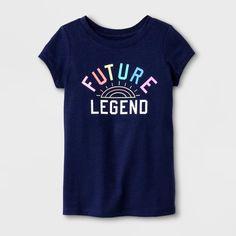 "Nightfall Blue Cat /& Jack Toddler Girls /""Future Legend/"" Short Sleeve T-Shirt"