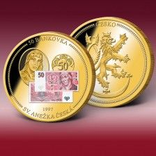 "Ražba bankovky ""50 Korun"" Decorative Plates, Coins, Money, Personalized Items, Home Decor, Decoration Home, Room Decor, Interior Decorating, Silver"