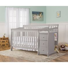 #relief The #Dream on Me 5-in-1 Brody Convertible is a beautifully constructed rugged multipurpose convertible crib with attached 3 drawer changing table. This p...