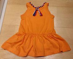 Sunny Sewing: Stoere, oranje jurk voor Koningsdag met rood wit blauwe versiering