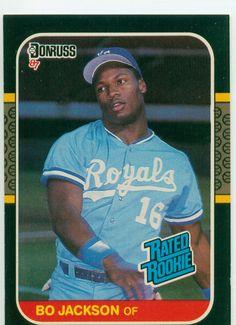 Bo Jackson 1987 Donruss Rated Rookie Card