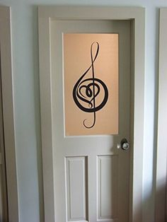 Treble Clef Heart Music Notes Vinyl Wall Decal Sticker Graphic Measures 16 x 36 inches. Application instructions are included. Some decals may come in multiple pieces due to the size of the design. Th