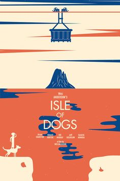"""Isle of Dogs by Jack Niles – Home of the Alternative Movie Poster -AMP- Movie Synopsis: """"Set in Japan, Isle Play Poster, Dog Poster, Movie Poster Art, Animated Movie Posters, Wes Anderson Poster, Wes Anderson Movies, Minimalism Movie, Posters Uk, Theatre Posters"""