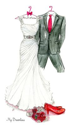 Dreamlines wedding dress sketch given as a wedding gift, anniversary gift and Bridal shower gift.#dreamlinesweddingdressketch #weddingdressketch #anniversarygift #weddinggift www.MyDreamlines.com