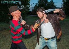 Freddy Krueger versus Wolverine cosplay