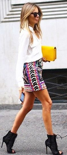Printed Skirt Fall Inspo by The Girl From Panama