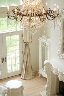Beautiful puddled drapes