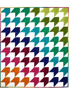 Over the Rainbow Quilt Pattern. Free PDF download. Charm square friendly. Half-square triangles.