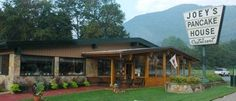 Joey's Pancake House in Maggie Valley just outside of Asheville -- awesome breakfast!