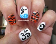 Life of Pi- Inspired by a Book, Cha Cha Cakes Nails: Day 24 in the 31 Day Nail Art Challenge