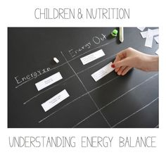 A great way to discuss nutrition with children—energy balance....