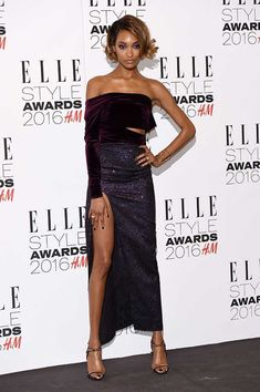 ELLE Style Awards 2016 Red Carpet: Jourdan Dunn wearing Emilio de la Morena Fall 2016 in London, February 2016