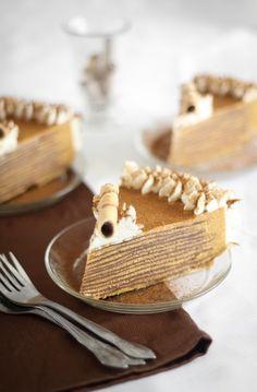 Pumpkin Bavarian Crepe Cake | Sprinkle Bakes. I love this blog!!