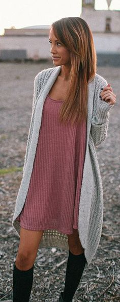 this is for tory she will love it a long grey cardigan outfit from Urban Outfitters