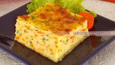 Torta de batata com cenoura | Culinária, Tortas salgadas | Papo Feminino