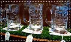 Three Engraved LSA International UK Tankards Three Peaks Challenge Uk, Three Peaks Challenge Yorkshire Dales and Helvellyn Tankard. I can customise a Design for you if you'd like! www.walkingonglass.co.uk @Glassforwalkers www.facebook.com/walkingonglass.co.uk  #Walking #mountains #helvellyn #threepeakschallenge #3pc