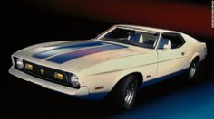1972 Ford Mustang Sprint edition fastback. The Sprint was the only new model offered for 1972. It included a special red, white and blue ext...
