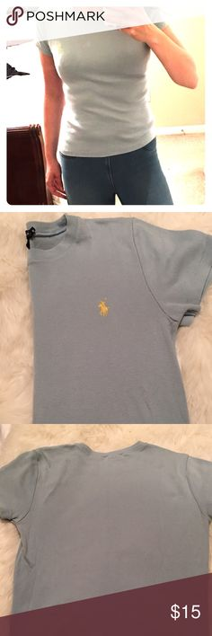 Ralph Lauren Crew Neck Tshirt Barely worn Ralph Lauren light blue tshirt. Size medium. Crew neck. A lot of stretch with the fabric. From a smoke and animal free home Ralph Lauren Tops Tees - Short Sleeve