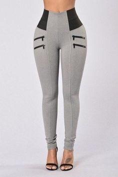 Casual Style Patchwork Workout Leggings Fitness Pant for Women - marlene balante - Damenhosen Leggings Mode, Women's Fashion Leggings, Leggings Are Not Pants, Workout Leggings, Workout Pants, Women's Pants, New Fashion Pant, Fashion Outfits, Gym Fashion