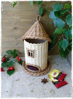 """Купить """"Чайная пауза"""" плетеный домик для чая - домик для чая, плетеный домик, чайный домик"""
