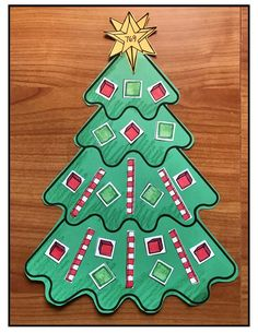 Place Value Activities: Math Activities: Make a Place Value Christmas tree. The ornaments, trunks & gifts are ones, tens & hundreds pieces. There are 13 tree patterns to choose from. What a fun way to practice place value. Completed projects make an adorable December bulletin board too. (A 10s rod looks like a peppermint stick & practices an ABAB (red-white) color pattern too. )