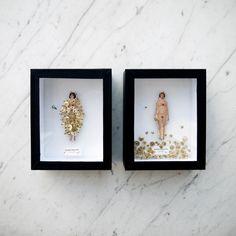 Un peu de botanique, un peu de vaudou, un peu d'anatomie et un zeste de superstition…l'atelier de Lyndie Dourthe est un cabinet de curiosités minuscules. Easy Canvas Art, Superstition, Assemblage Art, Weird Art, Textile Artists, Art Plastique, Box Art, Cool Artwork, Art Forms