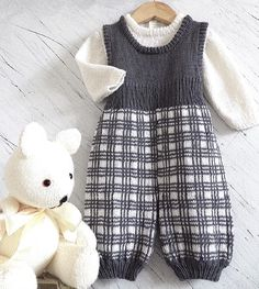 Baby Tartan Overalls and Jumper Knitting pattern by OGE Knitwear Designs | Knitting Patterns | LoveKnitting