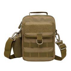 f5bd86285d1d Multifunction Men Nylon Military Shoulder Messenger Male Chest Bag Back Pack  Riding Travel Water Bottle Kettle Tote Bags Handbag
